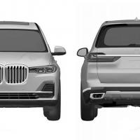 Фото BMW X7: патентные эскизы салона и кузова